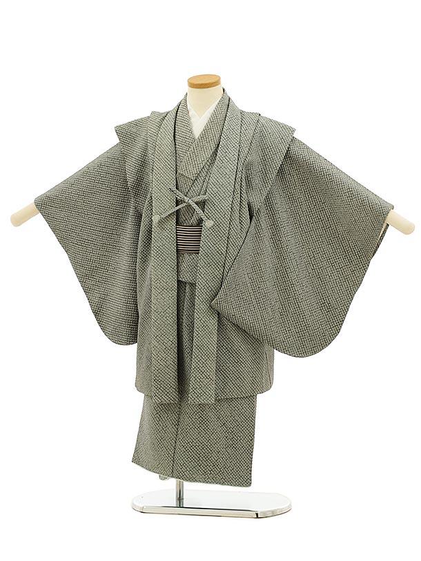 七五三(5歳男児)5909(高級正絹 総絞り)グレーグリーン絞りアンサンブル