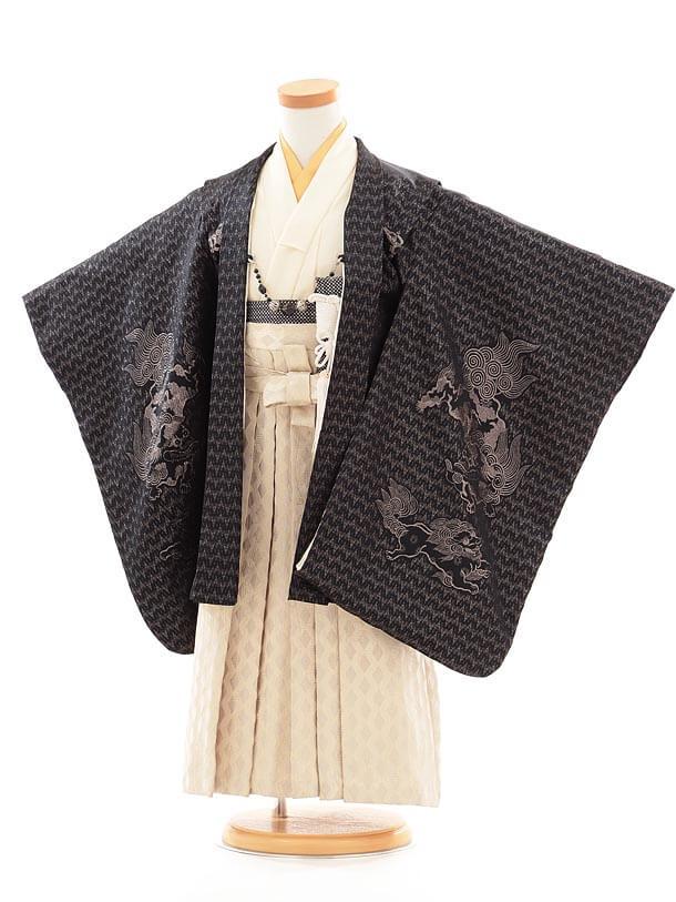七五三(3歳男袴) F025 ひさかたろまん 黒×