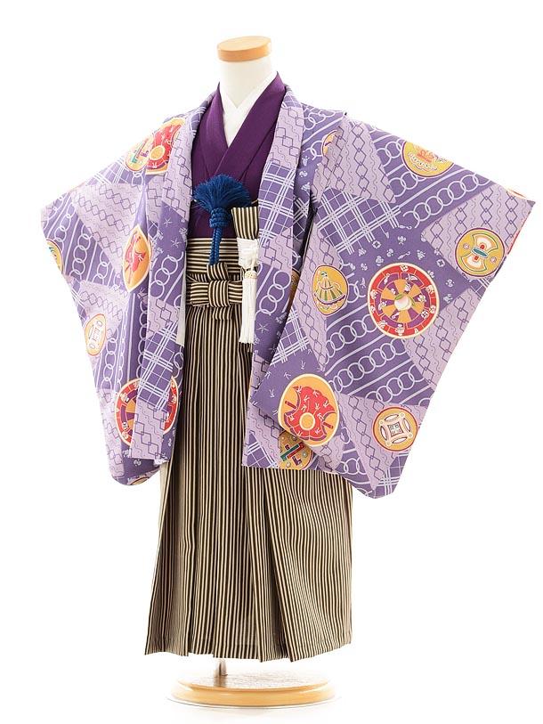 七五三(3歳男袴) F031 花夢二 紫