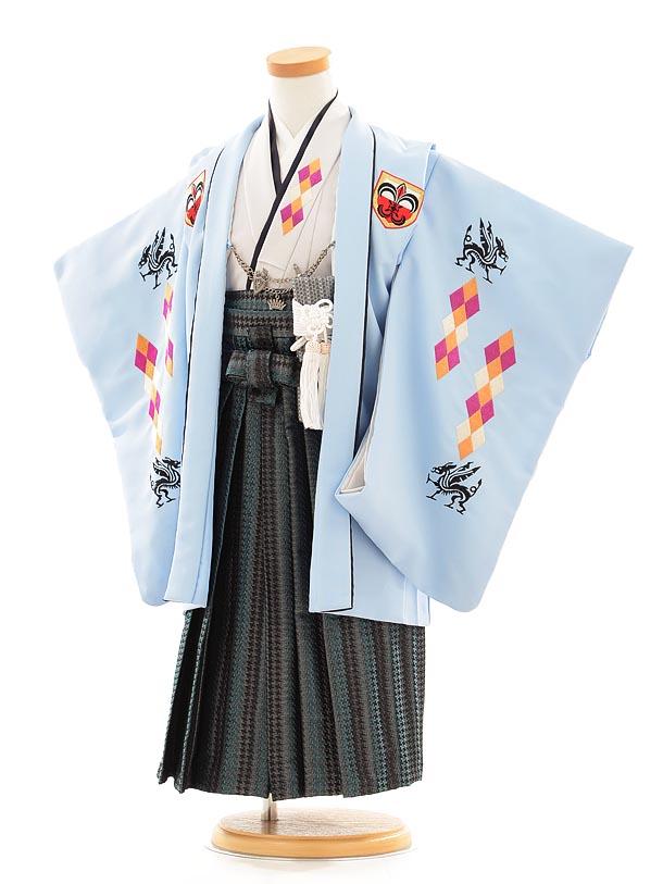 七五三(3歳男袴) F033 水色×グレー