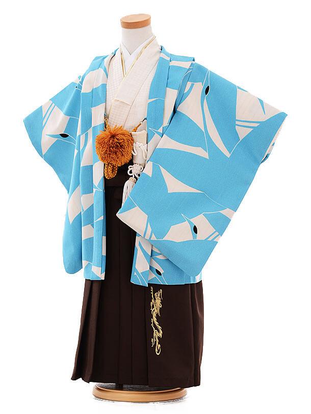 七五三(3歳男袴) F128 ひさかたろまん 水色 鶴