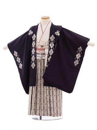 七五三レンタル(3歳男袴)F251 ひさかたろまん 紫