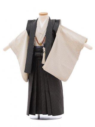 七五三レンタル(3歳男袴)F253 黒袖なし羽織