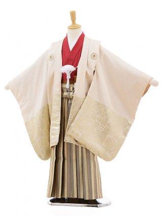 七五三レンタル(5歳男袴)F313 ひさかたろまんクリーム ゴールド×薄黄袴