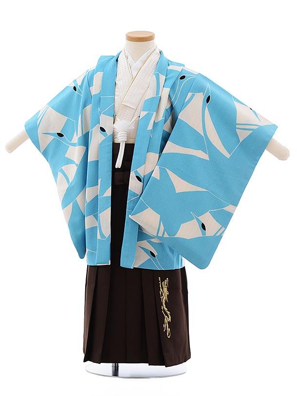 七五三(3.4歳男児袴) F440 ひさかたろまん 水色 鶴