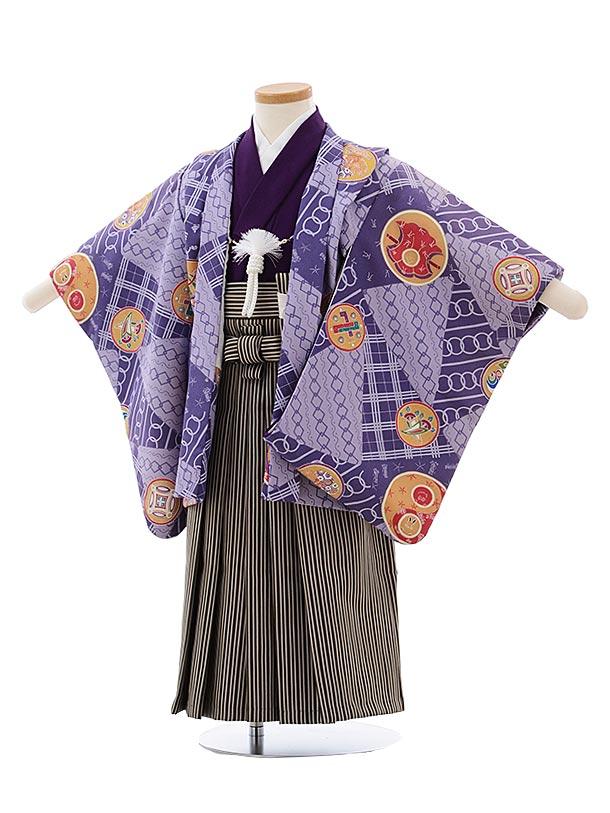 七五三(3.4歳男児袴) F447 花夢二 紫