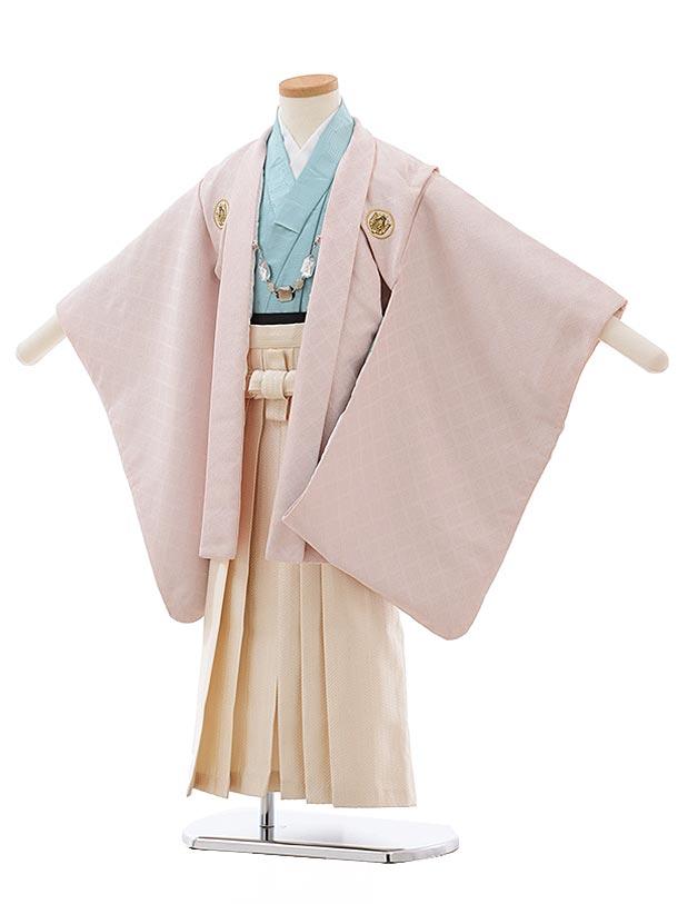 七五三(5歳男児袴) F459 ひさかたろまん ピンク ラメ