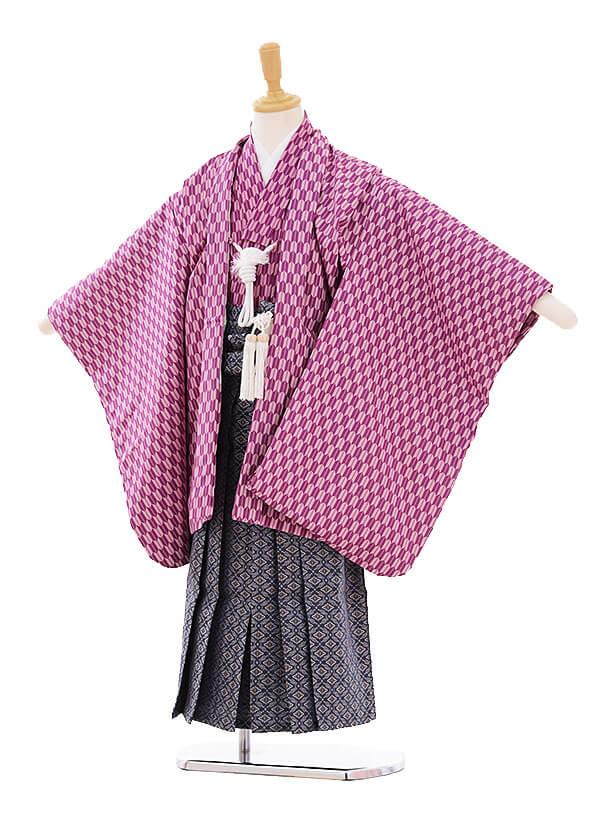 七五三(5歳男袴) H066 紫 矢柄