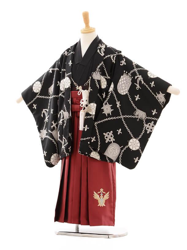 七五三(5歳男袴)I014 スザンヌ SHYKIDS 黒