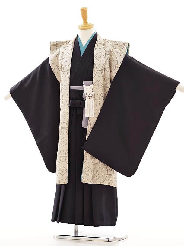 七五三(5歳男袴)I015 京モード ベージュ 陣羽織