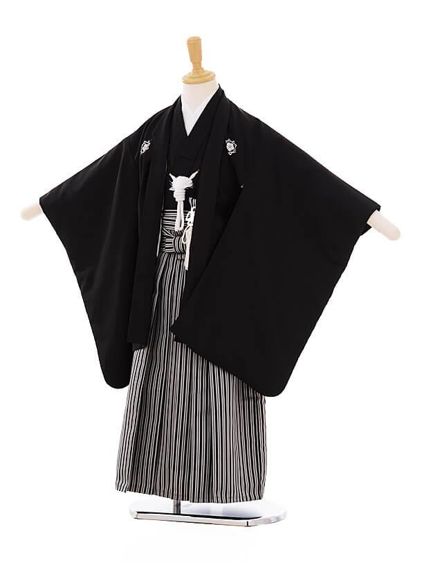 七五三(5歳男袴)I016 黒地 龍馬