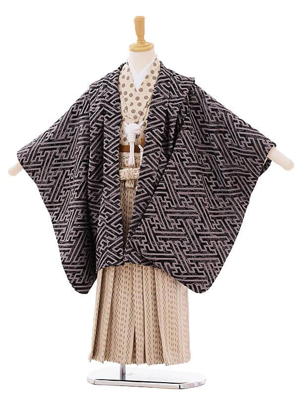 七五三(5歳男袴)I024 黒地 紗綾型
