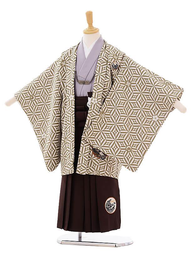 七五三(5歳男袴)I028 JAPANSTYLE 水色 グリーングレー