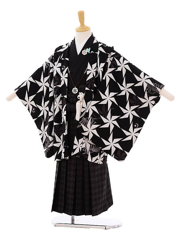 七五三(5歳男袴)I030 JAPANSTYLE 黒 風車