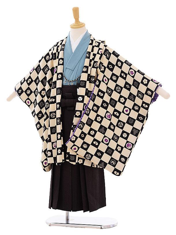 七五三(5歳男袴)I036 JAPANSTYLE 市松に紋