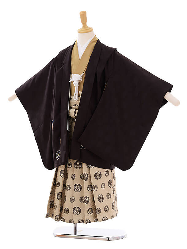 七五三(5歳男袴)I037 こげ茶 丸紋