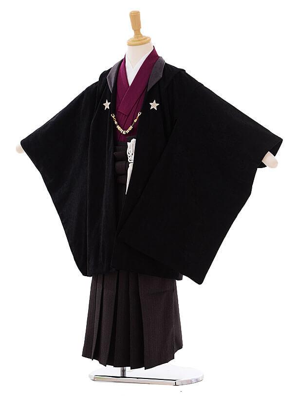 七五三(7歳男袴)I043 黒地 星