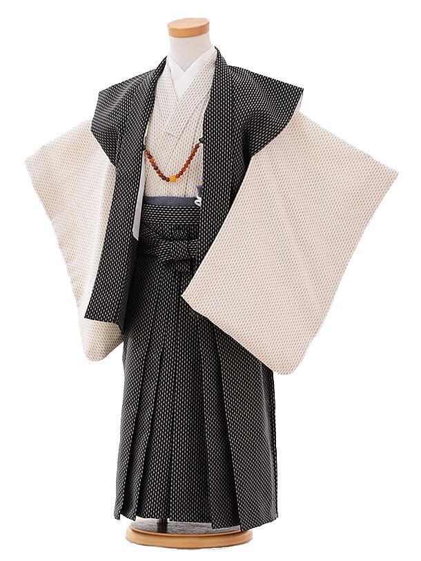 七五三(3歳男袴)I048 黒 袖なし羽織