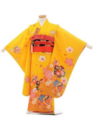 七五三レンタル(5歳女の子結び帯)0612 黄色