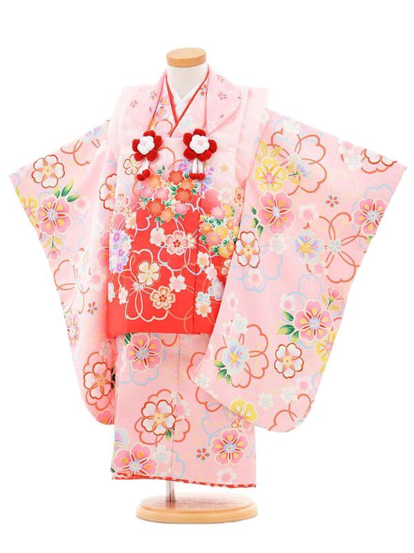 753レンタル(3歳女被布)03136 MaoMao ピンク