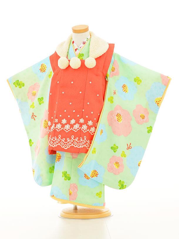 七五三レンタル(3歳女の子被布)3142Hakkakids濃ピンク×