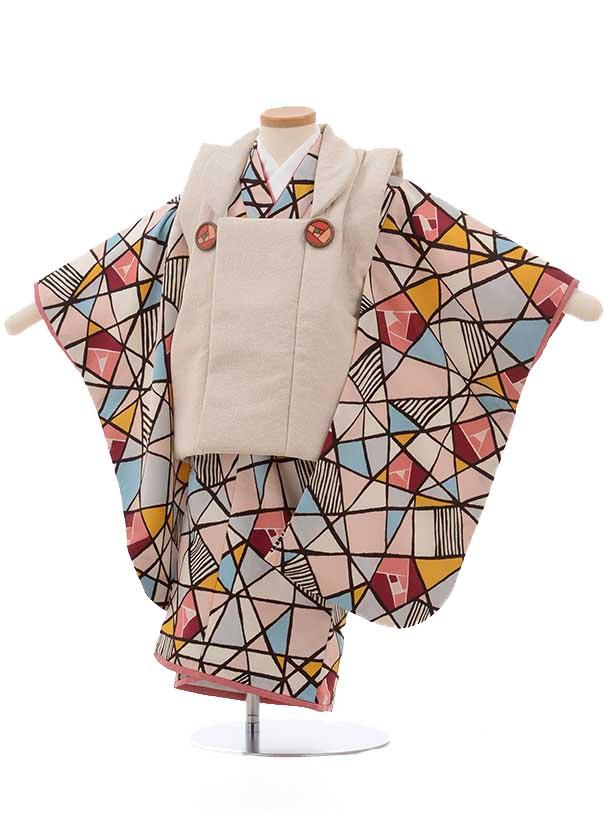 七五三レンタル(3歳女の子被布) 3701 ラフィネココ モダン柄