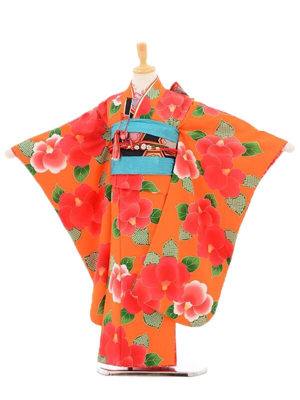 753レンタル(7歳女結び帯)7110 花わらべ 椿