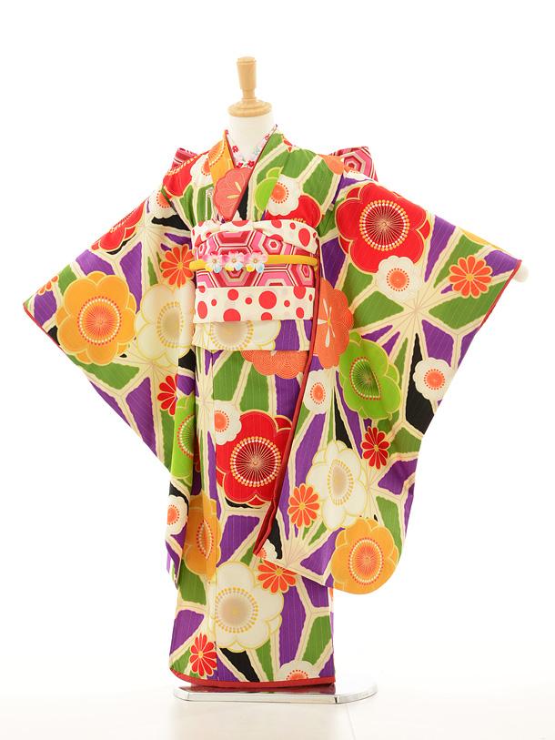 七五三レンタル(7歳女の子結び帯)7146 Lakokula 古典花