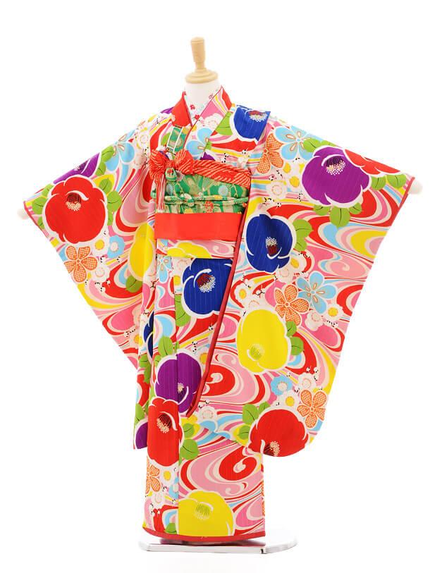 七五三レンタル(7歳女の子結び帯)7163 Lakokula ピンク