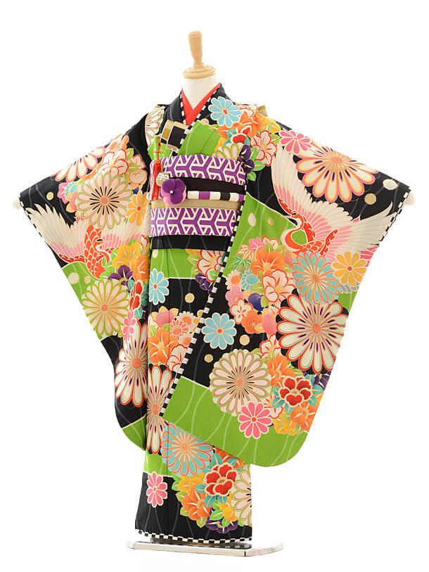 七五三レンタル(7歳女の子結び帯)7191 JAPAN STYLE 絵羽