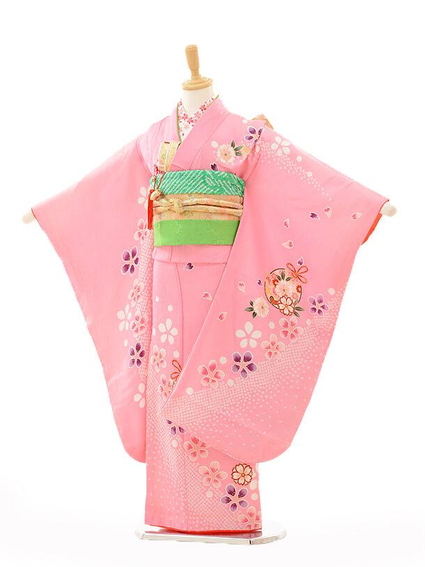 七五三(7歳女結び帯)7260 ピンク桜に鈴