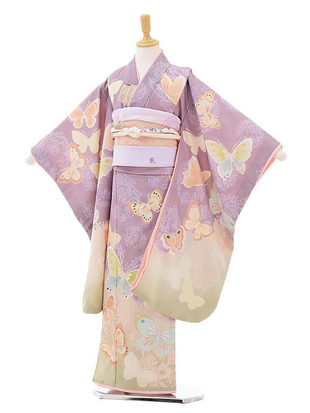 七五三レンタル(7歳女の子結び帯)7297 JILL STUART 蝶々 薄紫