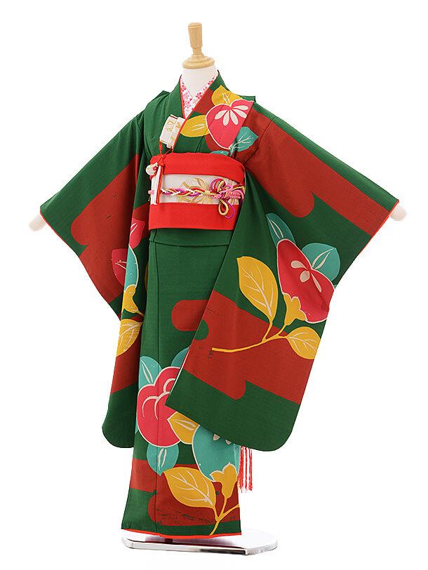 ▶七五三(7歳女結び帯)7304 LILI 緑橘