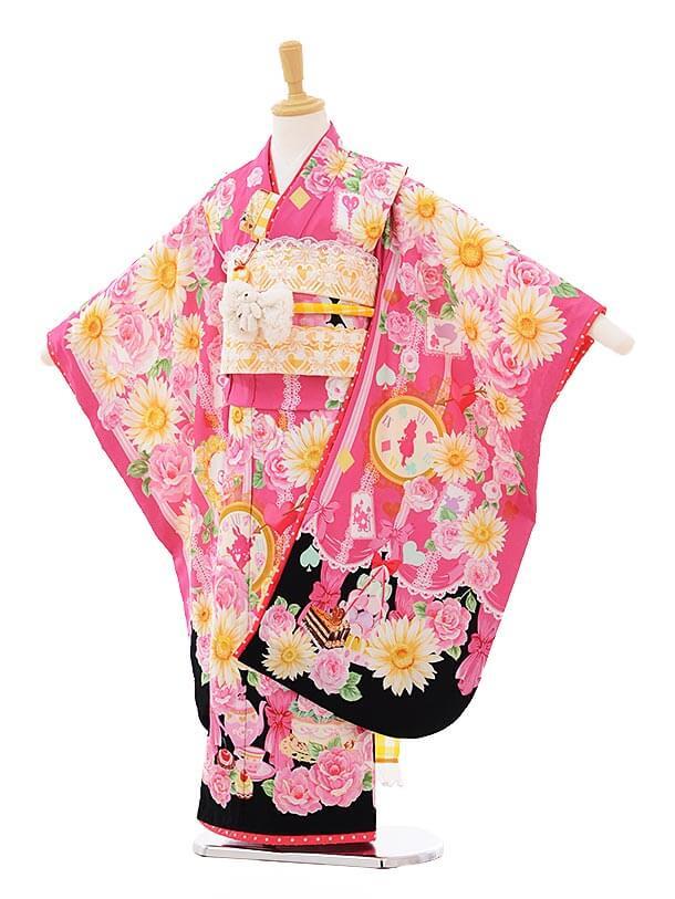 七五三(7歳女結び帯)7307 seiko ピンク アリス