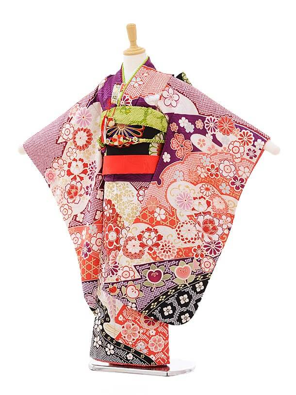 七五三(7歳女結び帯)7315 式部浪漫 紫 古典