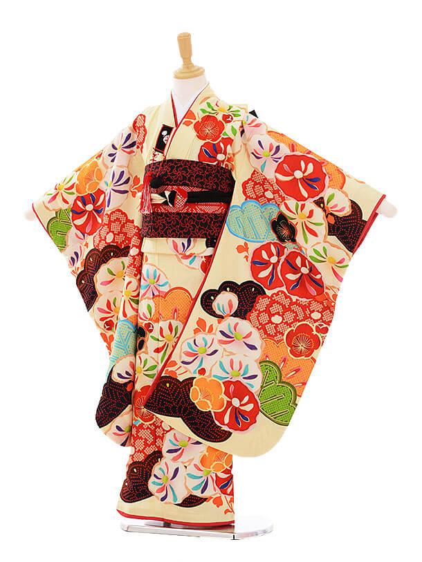 七五三(7歳結び帯)7334 内田篤人×JAPANSTYLE 絵羽万寿菊クリーム