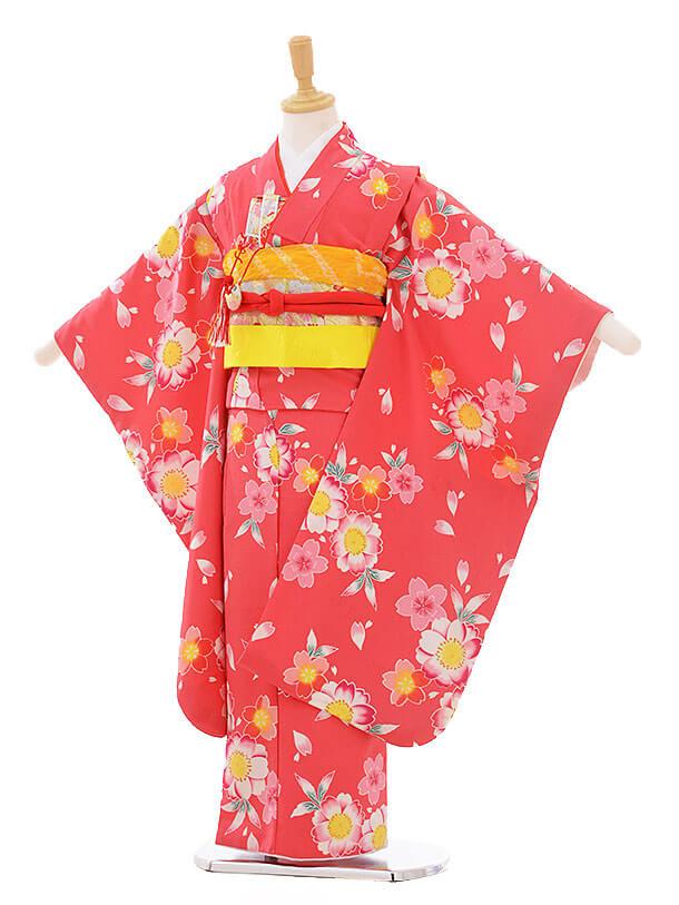 七五三(7歳女の子結び帯)7399 ピンク地 桜