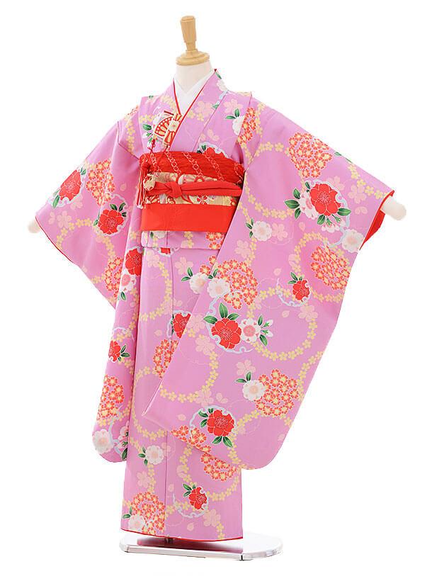 七五三(7歳女の子結び帯)7473 うす紫地 桜