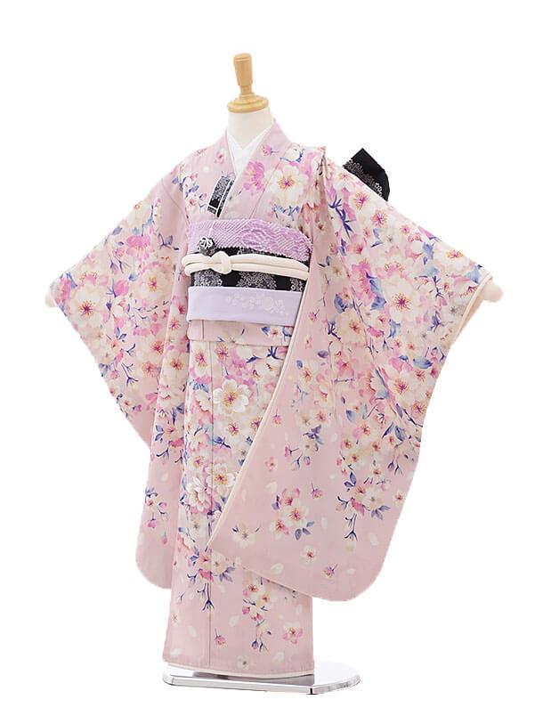 七五三レンタル(7歳女結び帯)7492 JILL STUART ピンク 桜