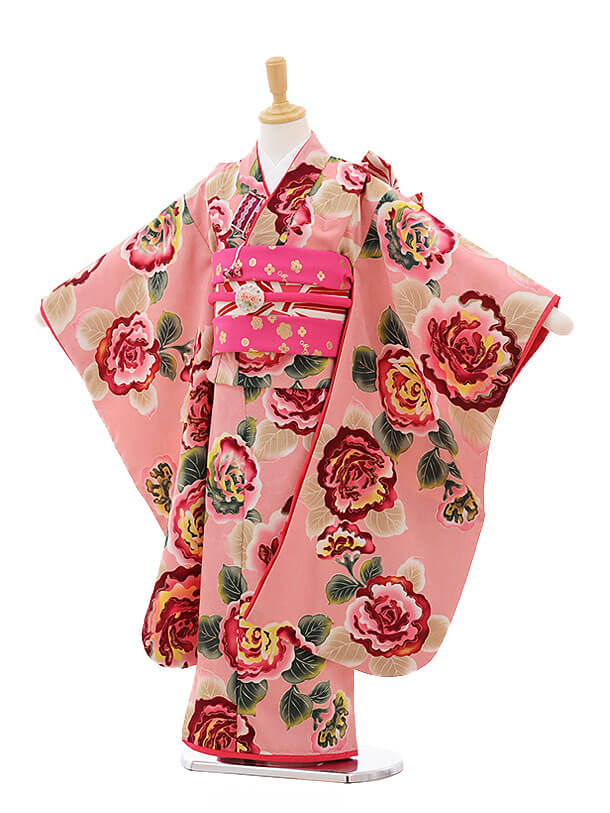 七五三レンタル(7歳女の子結び帯)7496 Mezzo Piano ピンク 花