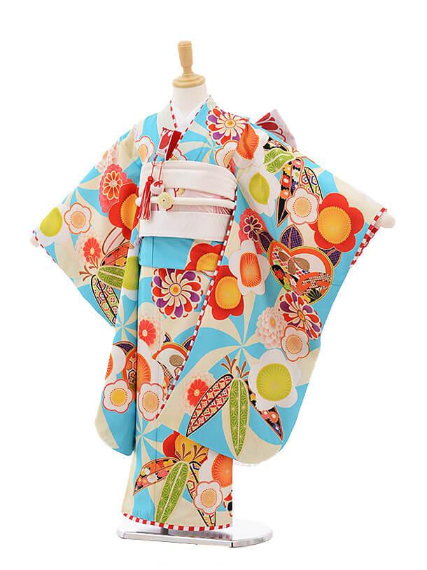 ▶七五三レンタル(7歳女の子結び帯)7500 JAPAN STYLE 水色 古典