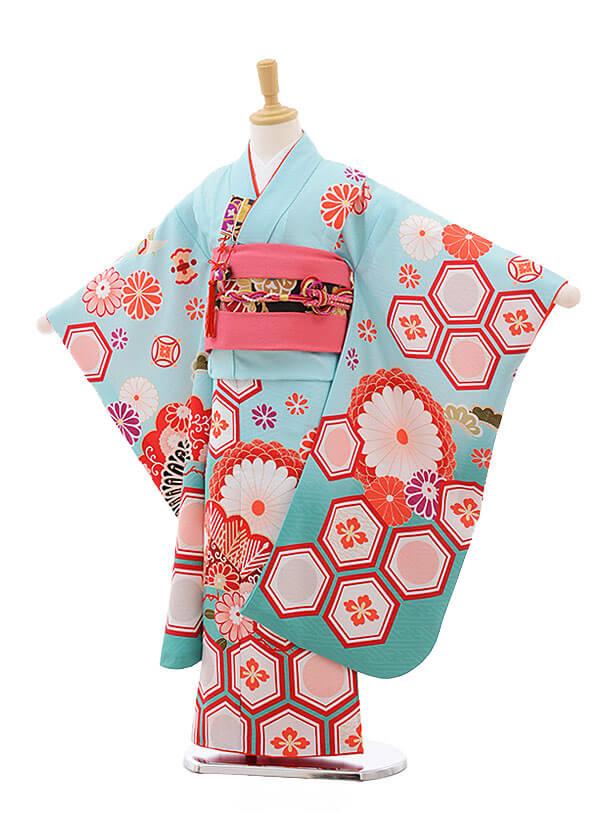 七五三レンタル(7歳女結び帯)7553 KAGURA 水色 古典