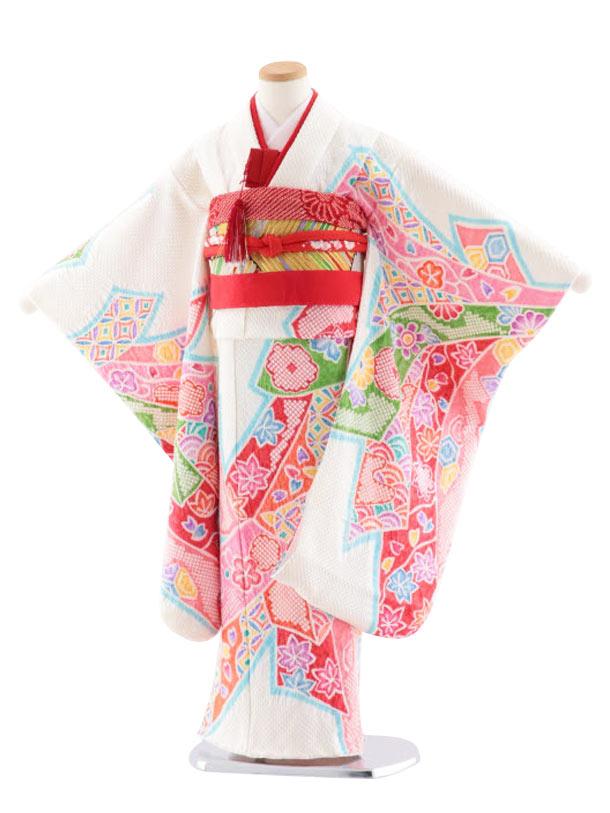 七五三(7歳女児袋帯) 高級正絹 7740 京鹿の子総絞り 吉祥束ね熨斗