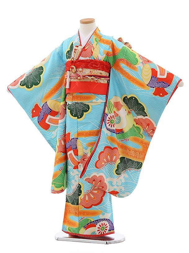 七五三レンタル(7歳女児結び帯)7794ジャパンスタイル水色古典