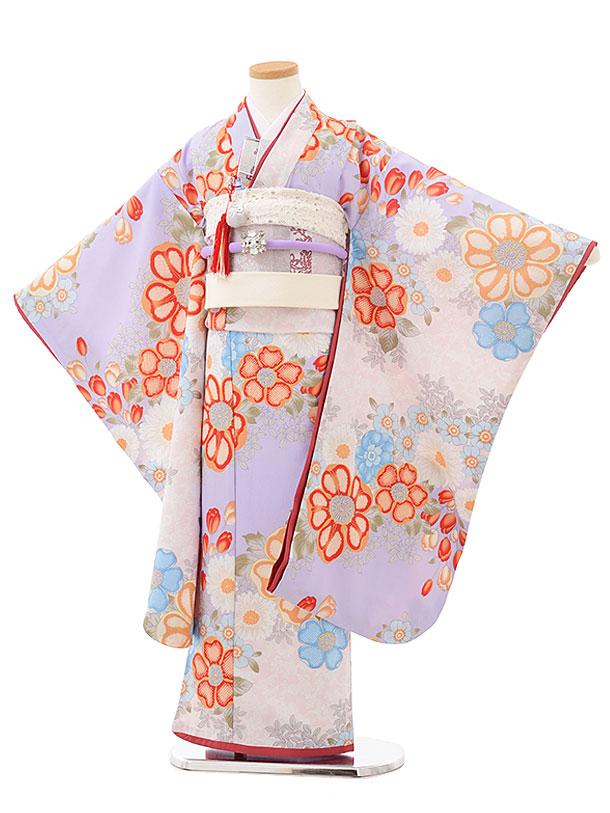 七五三レンタル(7歳女の子結び帯)7868 Sugar Kei ラベンダーお花