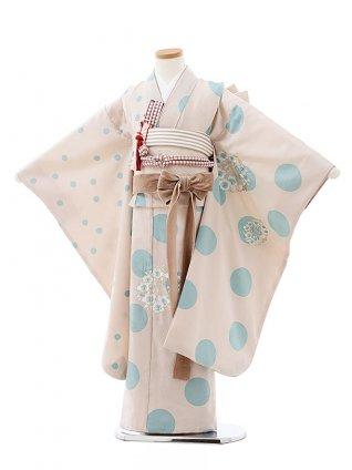 七五三(7歳)7912 ぷちぷり ベージュドット刺繍桜