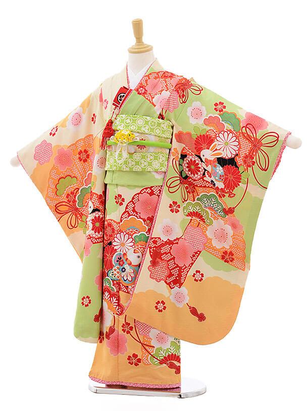 七五三レンタル(7歳女結び帯)F235 JAPAN STYLE×あしだまな
