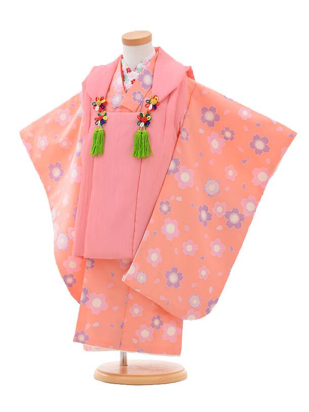 ▶七五三(3歳女被布)H008ピンク 桜