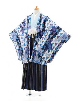 小学生 卒業式 袴 男児 0981ブルー×ブルー縞袴