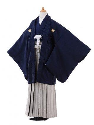 小学生 卒業式 袴 男児 9368紺紋付×ベージュ袴